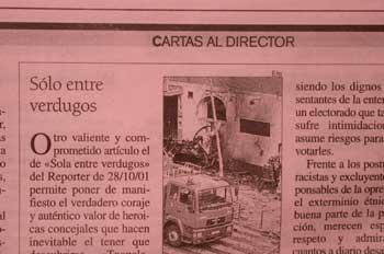 Imagen de un trozo de periódico